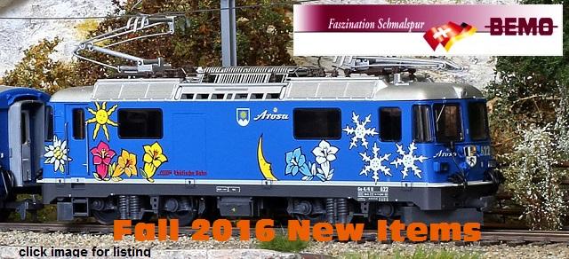 BEMO Autumn 2016 New Item Releases
