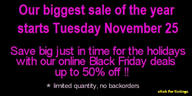 BLACK FRIDAY MEGASALE - 50% OFF