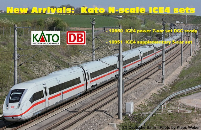 new arrivals KATO N-scale ICE4 sets