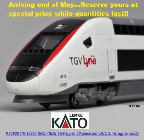 KATO 10920 10-tlg. TGV POS Lyria 4402 SNCF/SBB (10-1325)