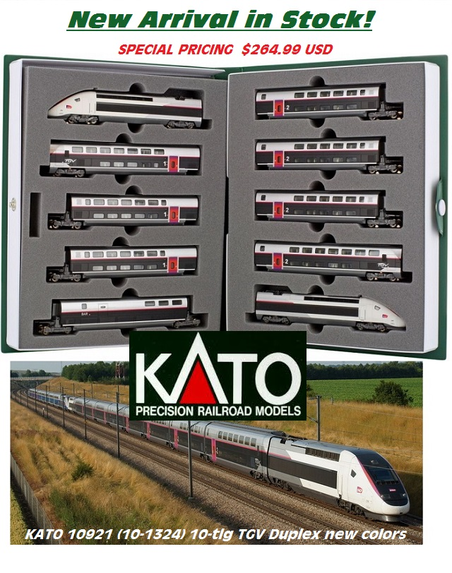 KATO 10921 (10-1324) 10-tlg.TGV Duplex Camillon