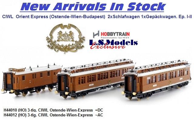 New Era I - II Orient Express carriages from LSM/Hobbytrain