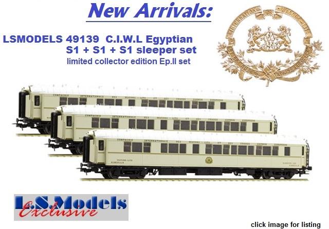 LSMODELS 49139 S1 + S1 + S1, white, for Egypt, livery 1928, CIWL