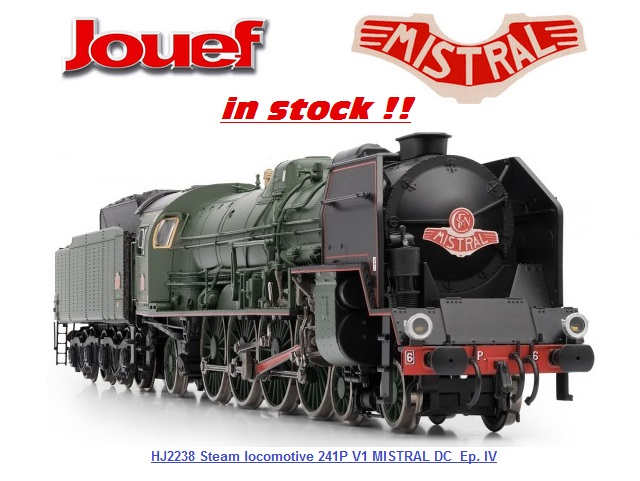 JOUEF HJ2238 Steam locomotive 241P V1 MISTRAL DC