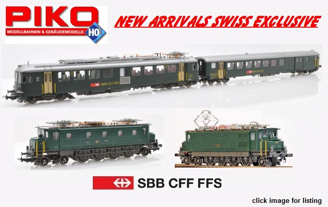 PIKO Exclusive Swiss market models. Limited Editions.