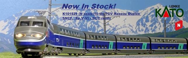KATO HOBBYTRAIN LEMKE 101529 10-tlg.TGV Reseau Duplex SNCF, Ep.V-VI