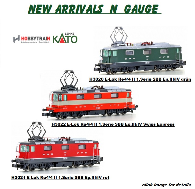 New Arrivals HOBBYTRAIN Re4/4II e-loks