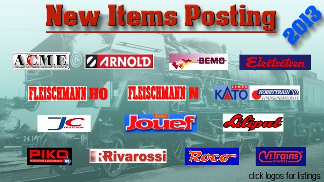 2013 New Items Listings