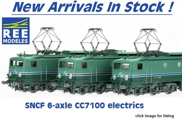 REE SNCF 7100 electrics new arrivals