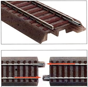 ROCO HO GELINE code83 ballasted track. Highest quality, self locking, sound absorbing track with ballast as prototype.